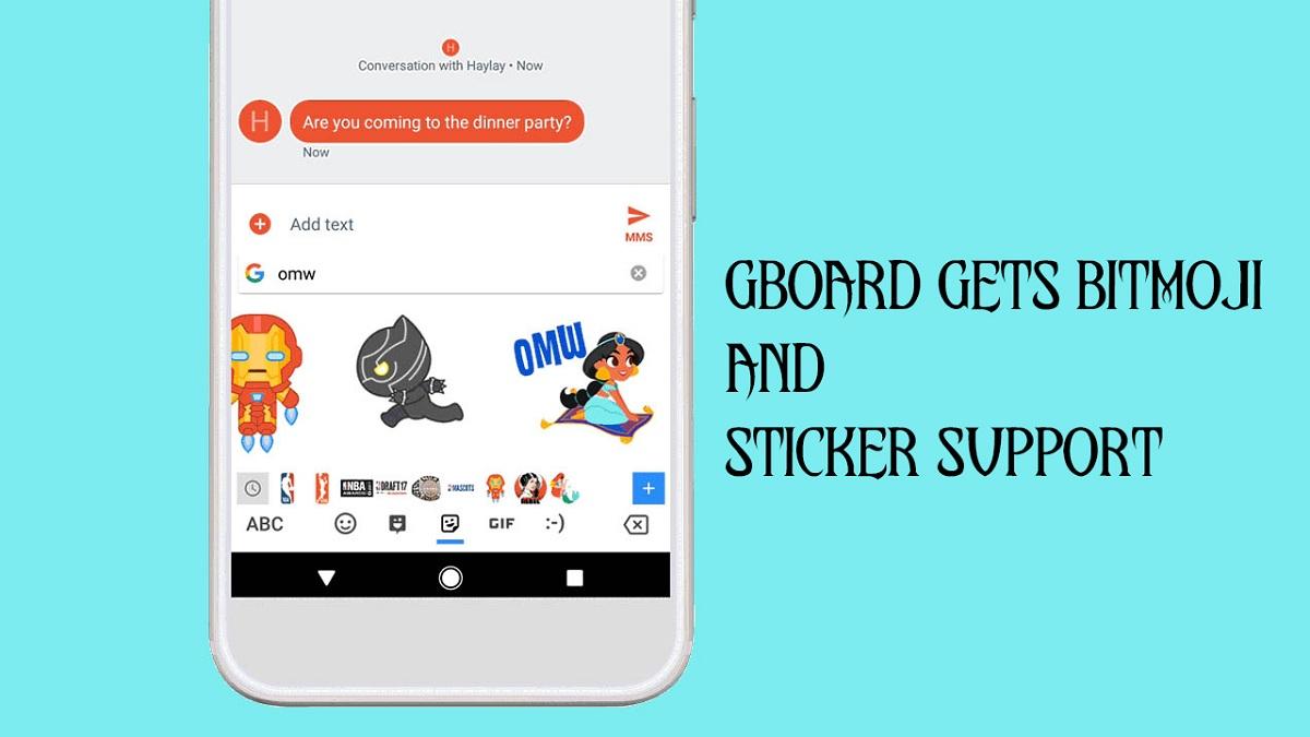 Gboard Gets Bitmoji and Sticker Support - Radical Hub