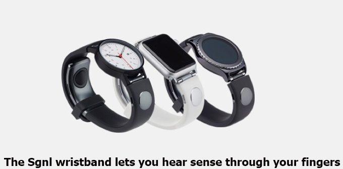 The Sgnl wristband lets you hear sense through your fingers