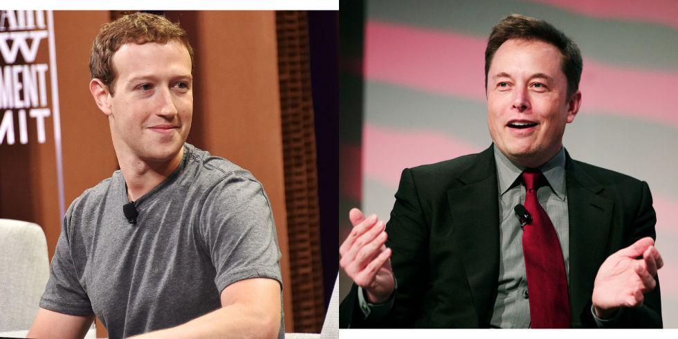 Mark Zuckerberg and Elon Musk